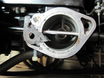 carburetor gasket damage